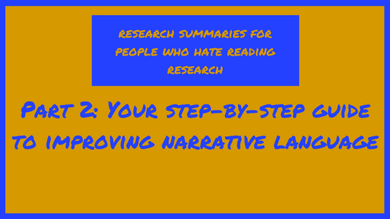 Your step-by-step guide to improving narrative language